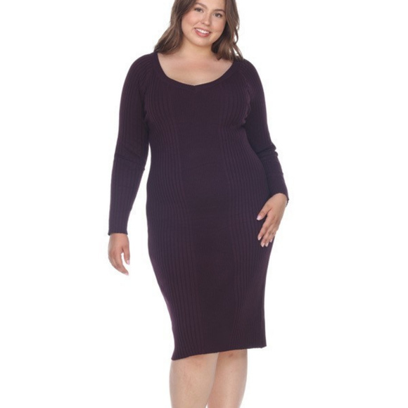 Plus Size Sweater Dress Long Sleeves PS057 NWT